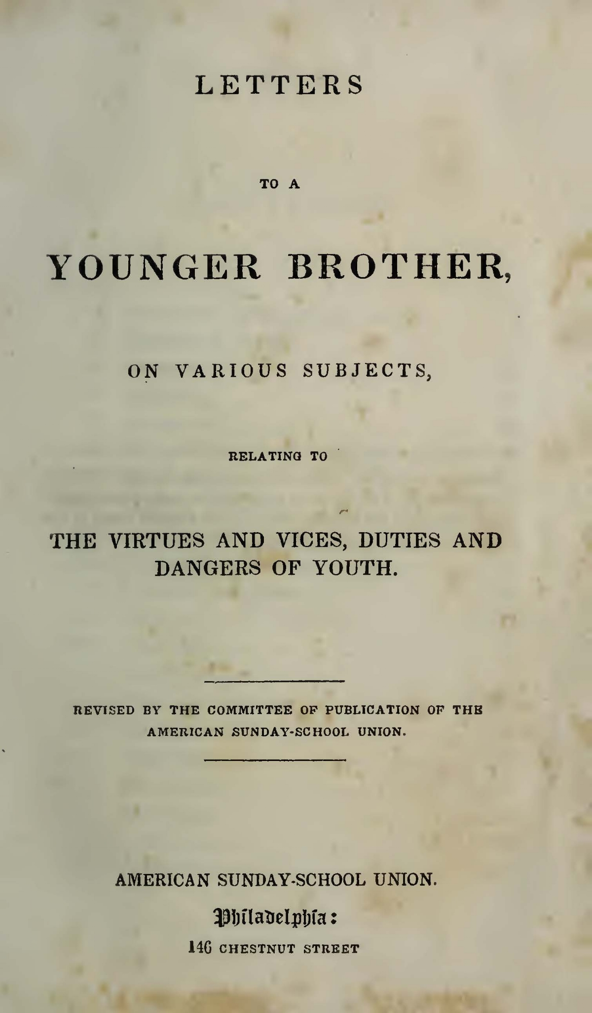 Alexander, James Waddel, Letters to a Younger Brother Title Page.jpg