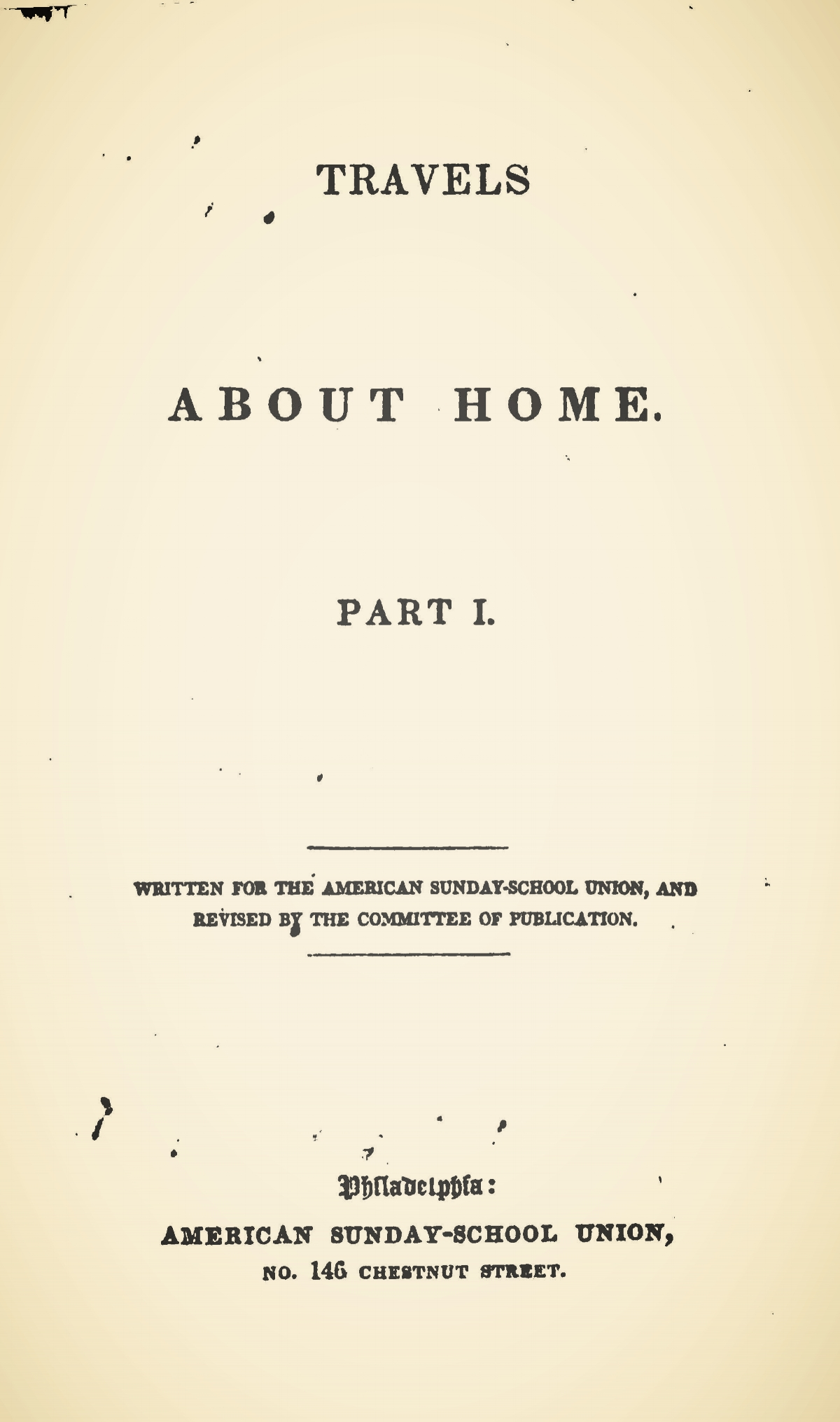 Alexander, James Waddel, Travels About Home Title Page.jpg