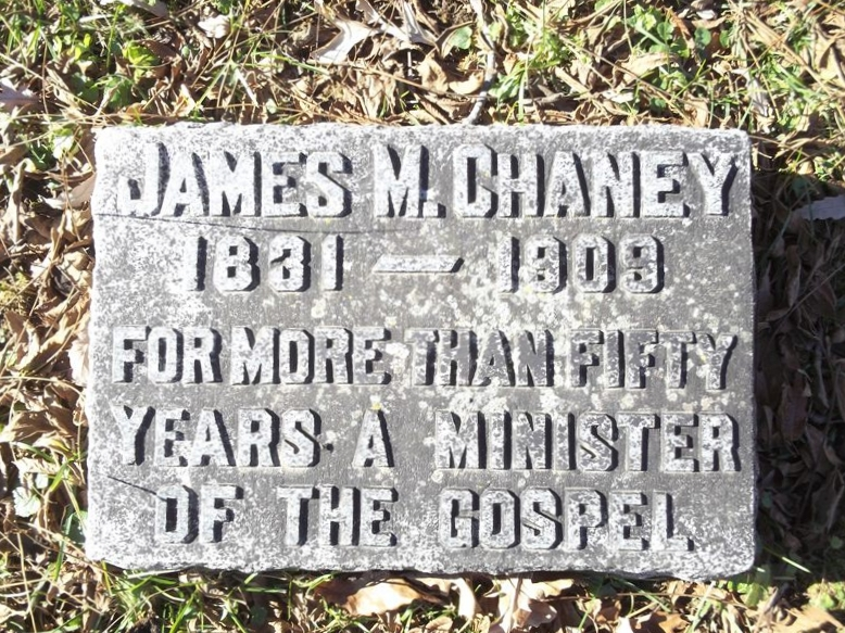 James McDonald Chaney is buried at Mount Washington Cemetery, Independence, Missouri.