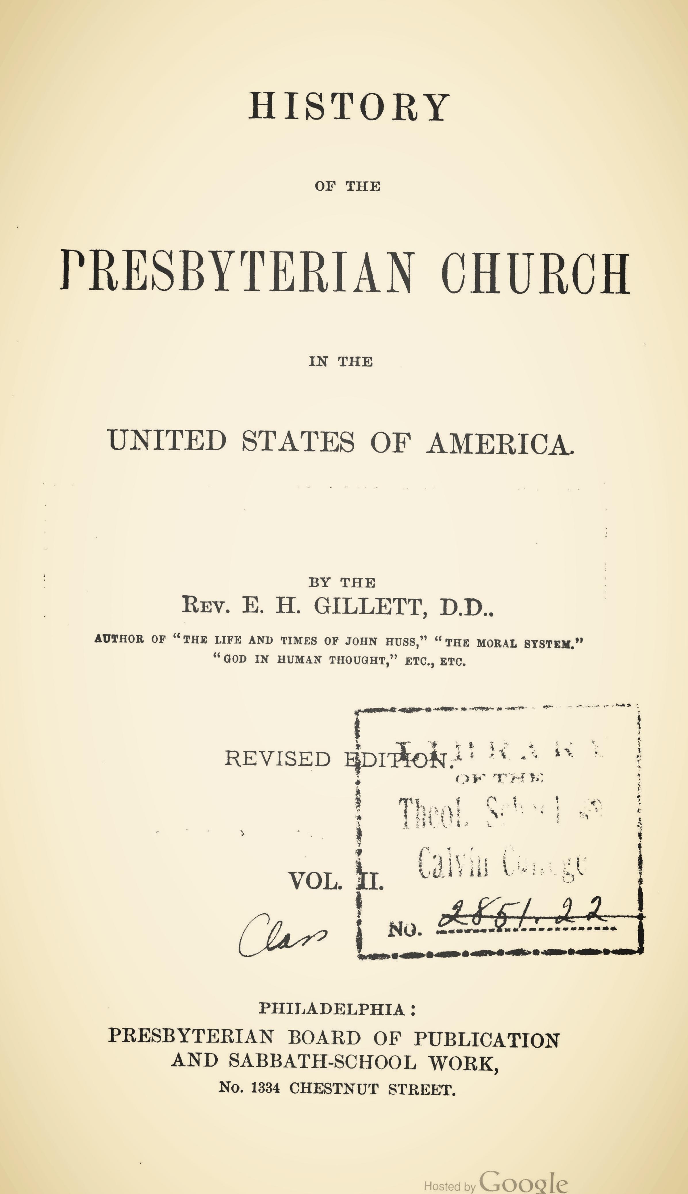 Gillett, History of Presbyterian Church, Volume 2.jpg