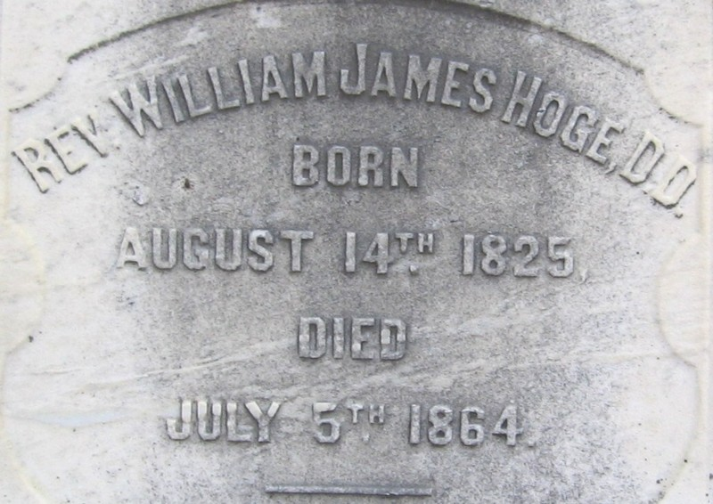 William James Hoge is buried at Hollywood Cemetery, Richmond, Virginia.