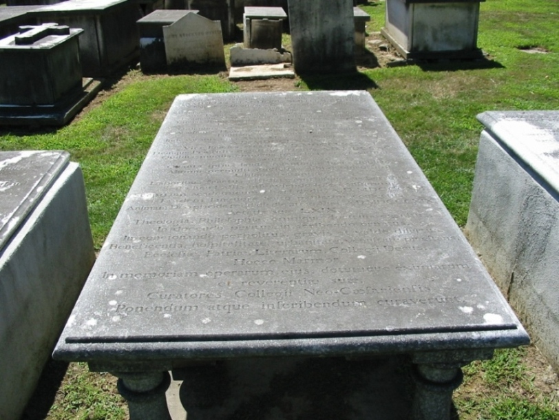Samuel Stanhope Smith is buried at Princeton Cemetery, Princeton, New Jersey.