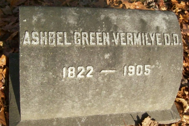 Ashbel Green Vermilye is buried at Brookside Cemetery, Englewood, New Jersey.