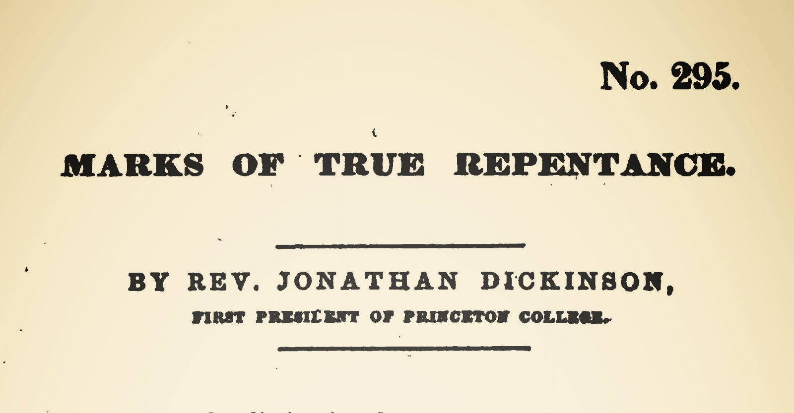 Dickinson, Jonathan, Marks of True Repentance Title Page.jpg