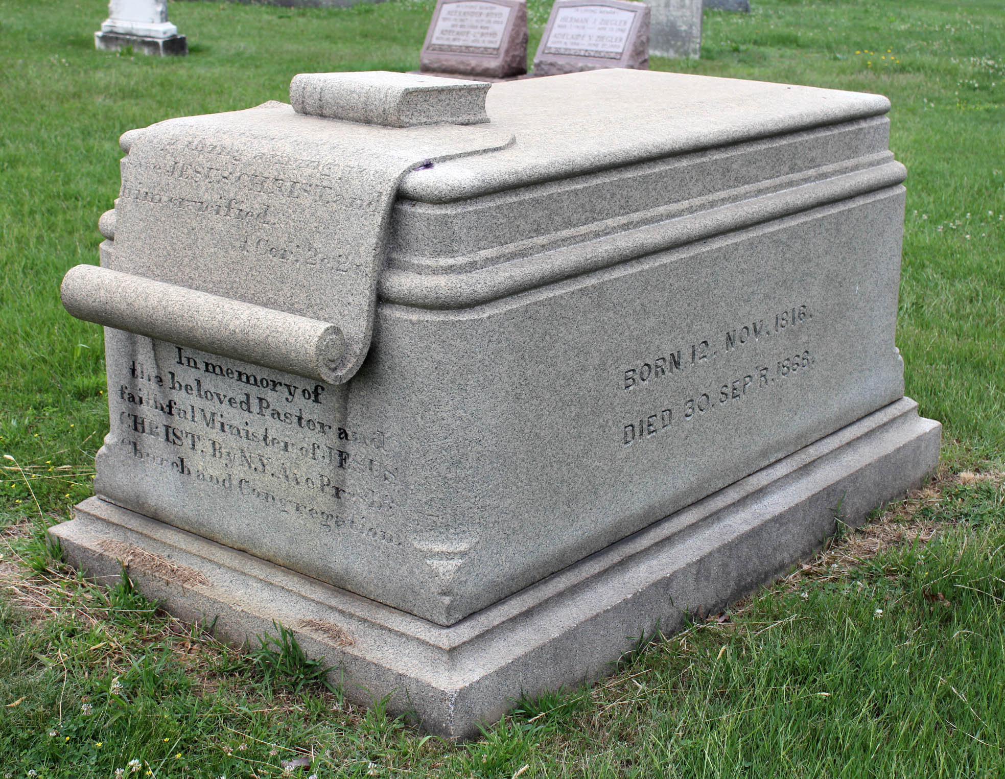 Phineas Densmore Gurley is buried at Glenwood Cemetery, Washington, District of Columbia.