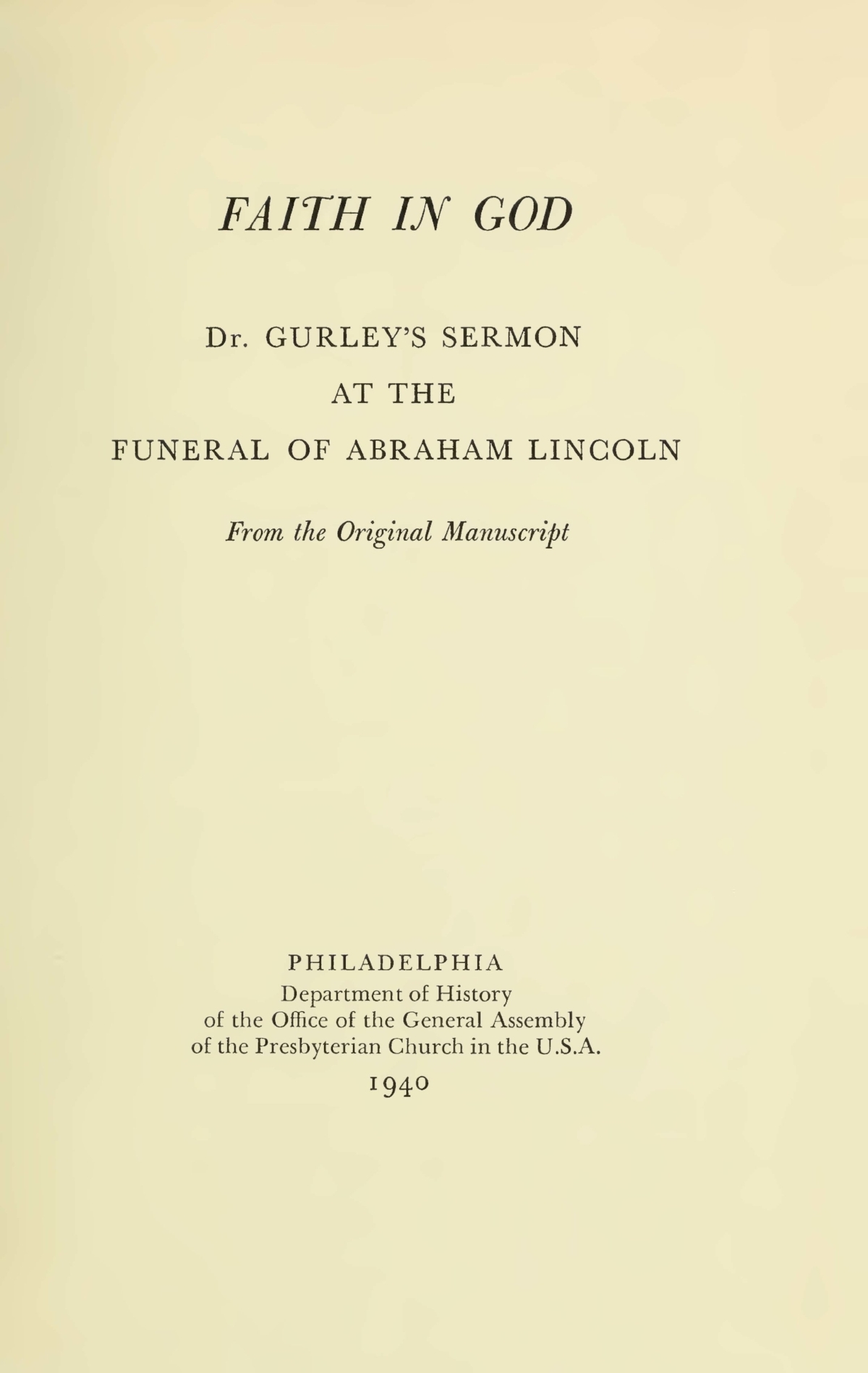 Gurley, Phineas Densmore, Faith in God Title Page.jpg