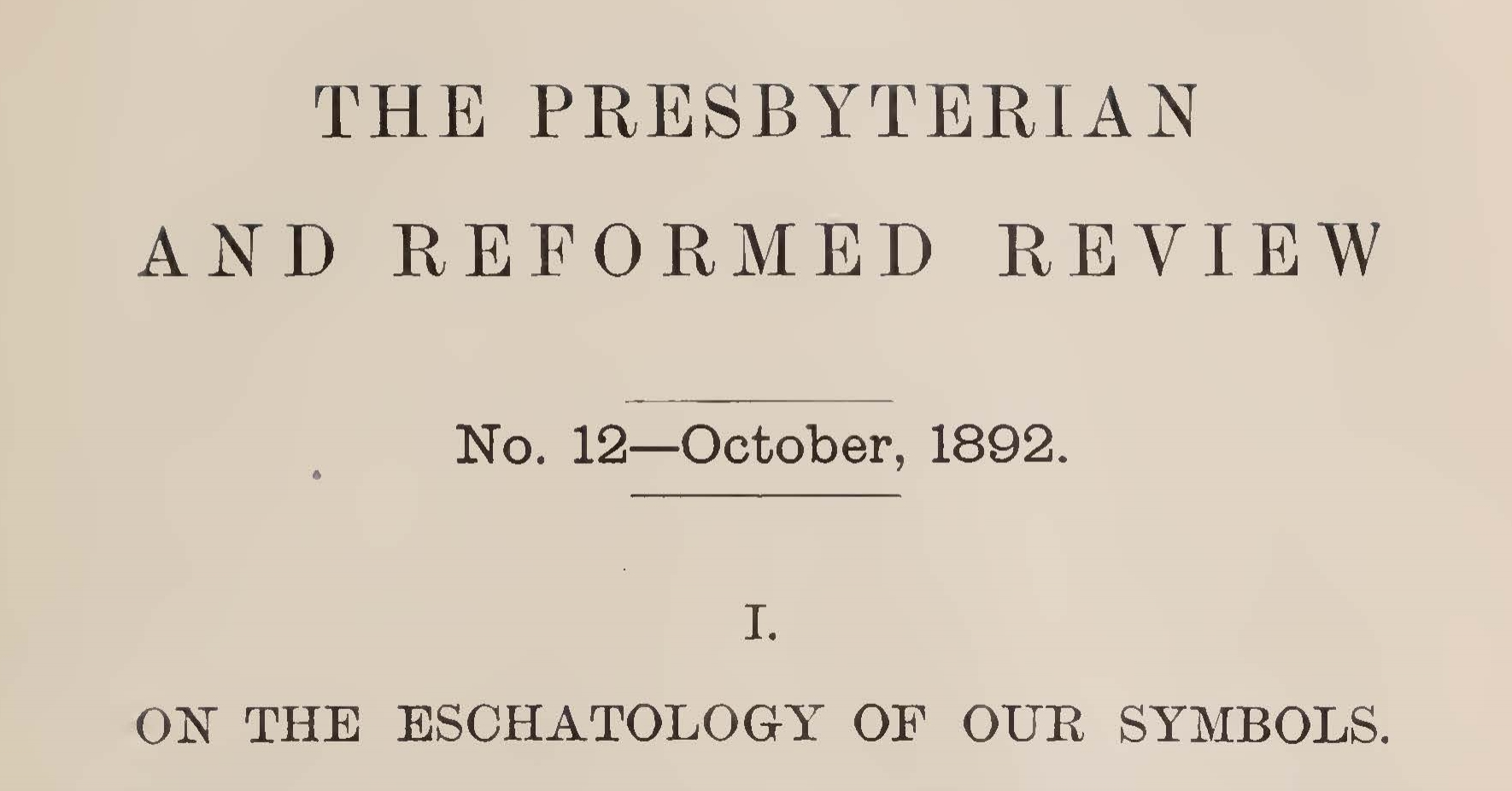 Morris, Edward Dafydd, On the Eschatology of Our Symbols Title Page.jpg