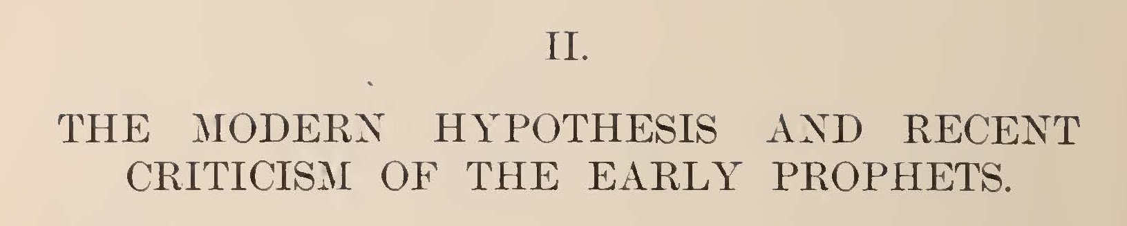 Vos, Geerhardus, The Modern Hypothesis and Recent Criticism of the Early Prophets, Part 1 Title Page.jpg