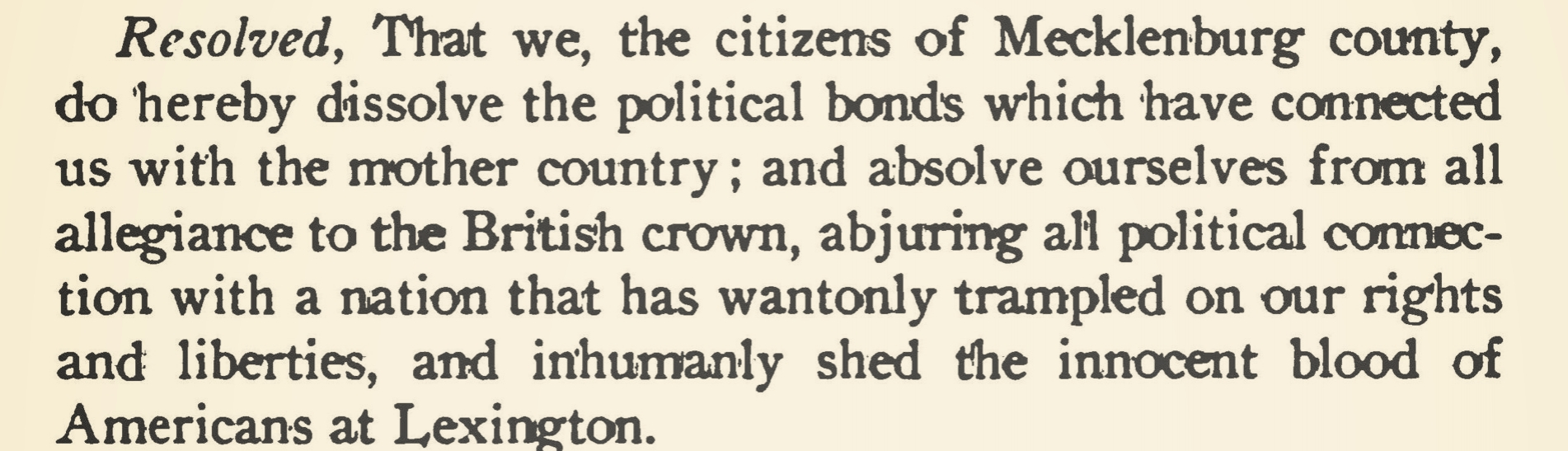 Source: J.B. Alexander,  The History of Mecklenburg County From 1740 to 1900  (1902)