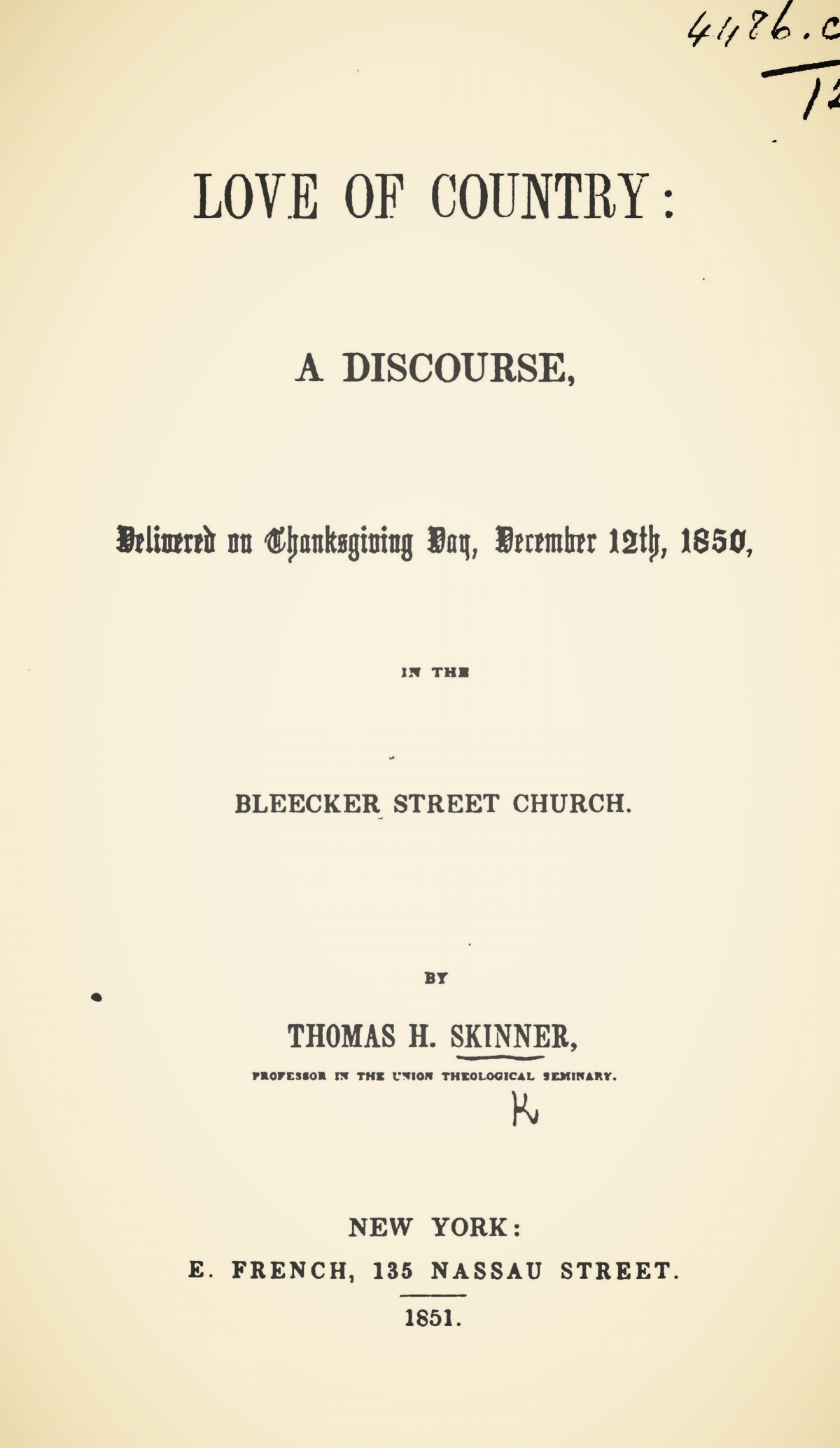 Skinner, Sr., Thomas Harvey, Love of Country Title Page.jpg