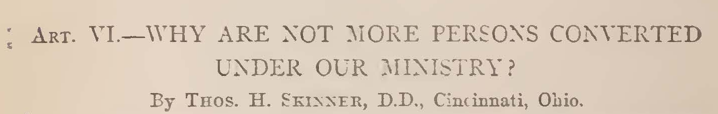 Skinner, Jr., Thomas Harvey, Why Are Not More Persons Converted Under Our Ministry Title Page.jpg