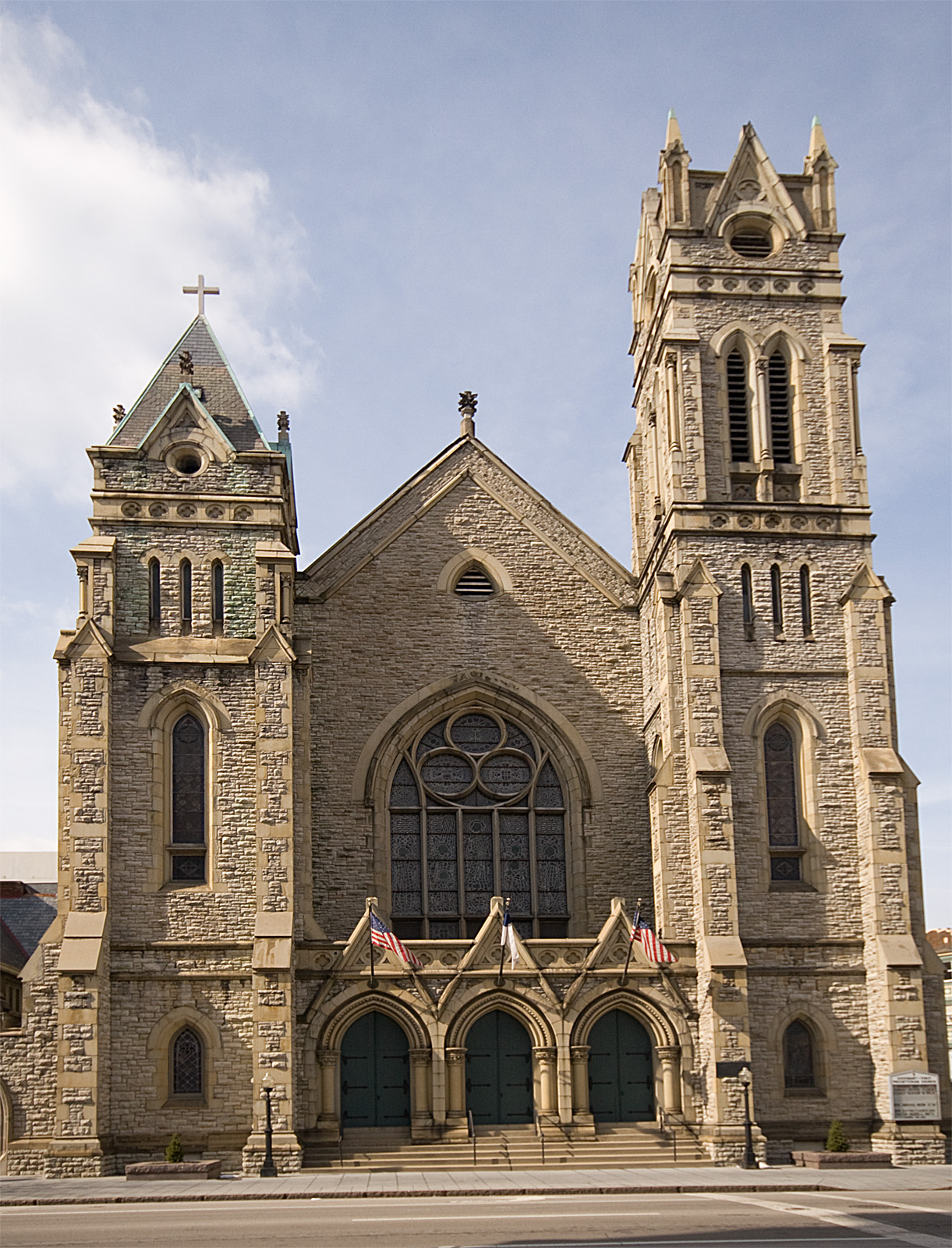 Formerly known as Second Presbyterian Church of Cincinnati, Ohio, Thomas Harvey Skinner, Jr. served as the pastor of this congregation from 1871 to 1881. The building pictured here was built in 1875 and the church is now known as Covenant  First Presbyterian Church (PCUSA).