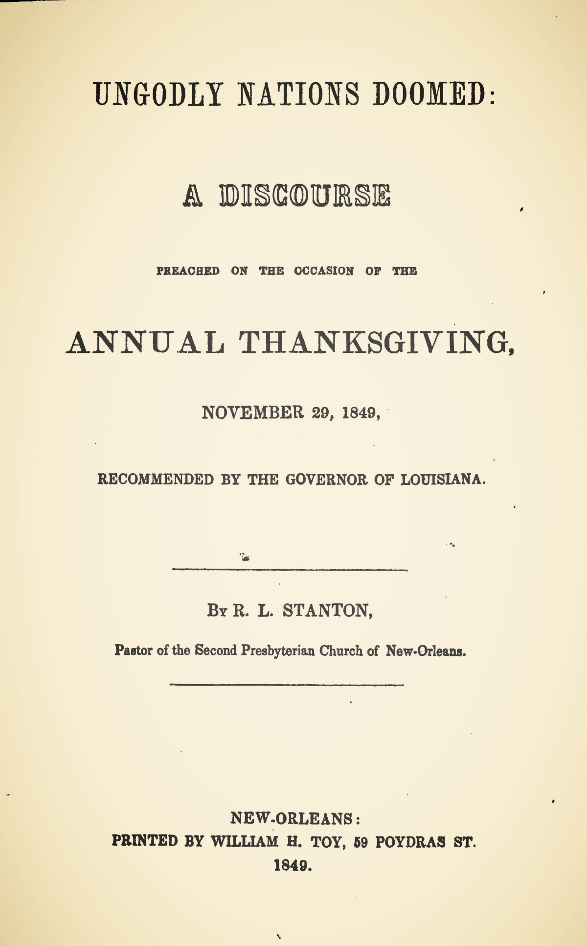 Stanton, Robert Lodowick, Ungodly Nations Doomed Title Page.jpg