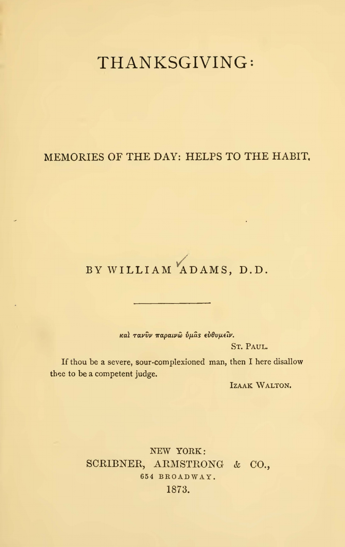 Adams, William, Thanksgiving Title Page.jpg
