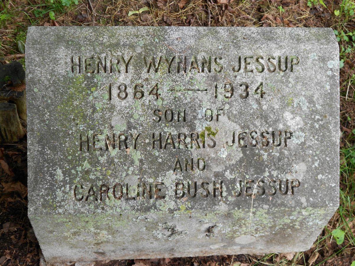Henry Wynans Jessup is buried at Montrose Cemetery, Montrose, Pennsylvania.