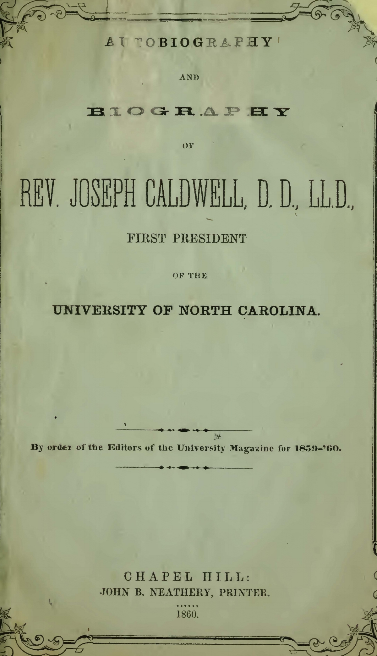 Caldwell, Joseph, Autobiography and Biography Title Page.jpg