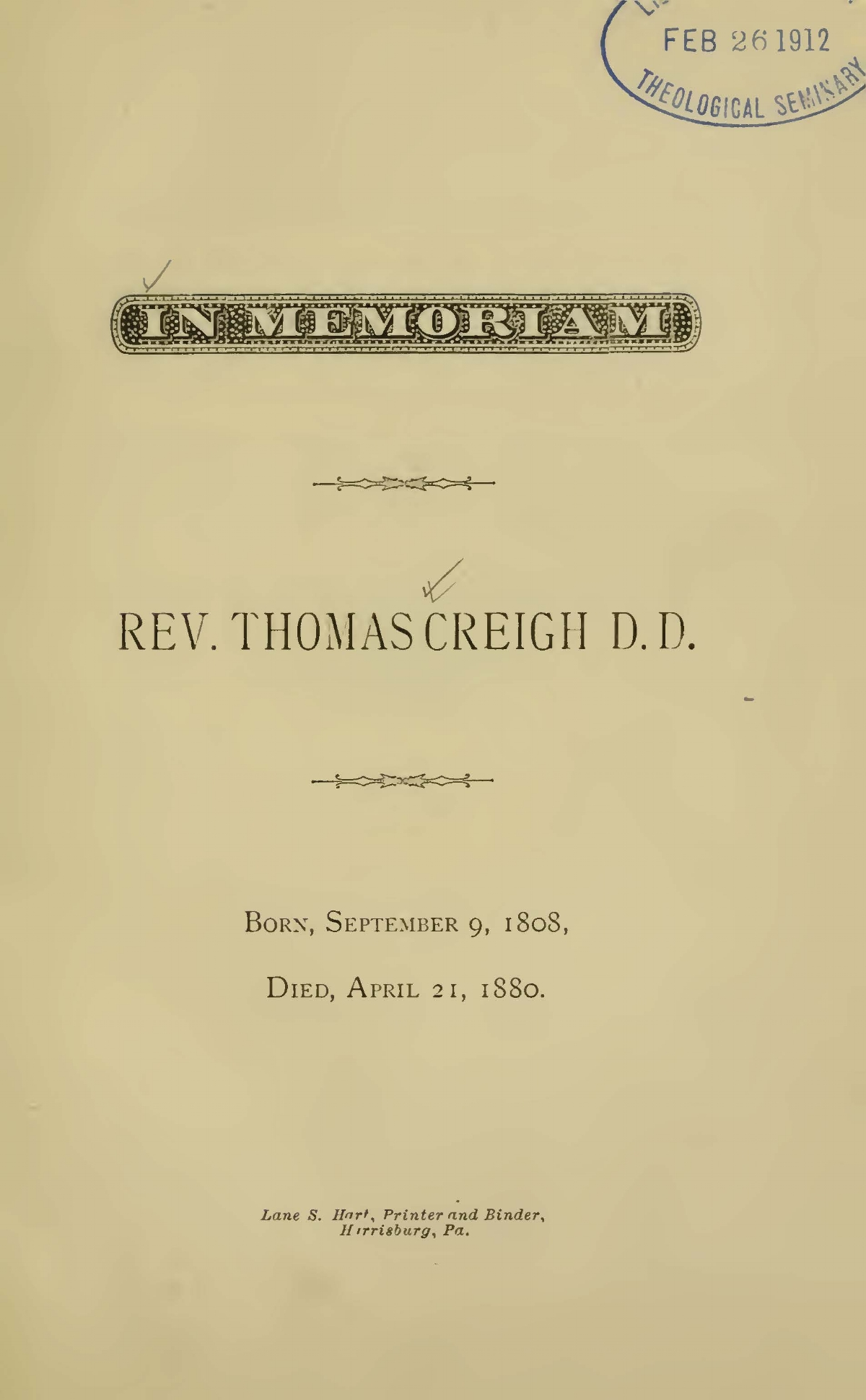 Creigh, Thomas, In Memoriam Title Page.jpg