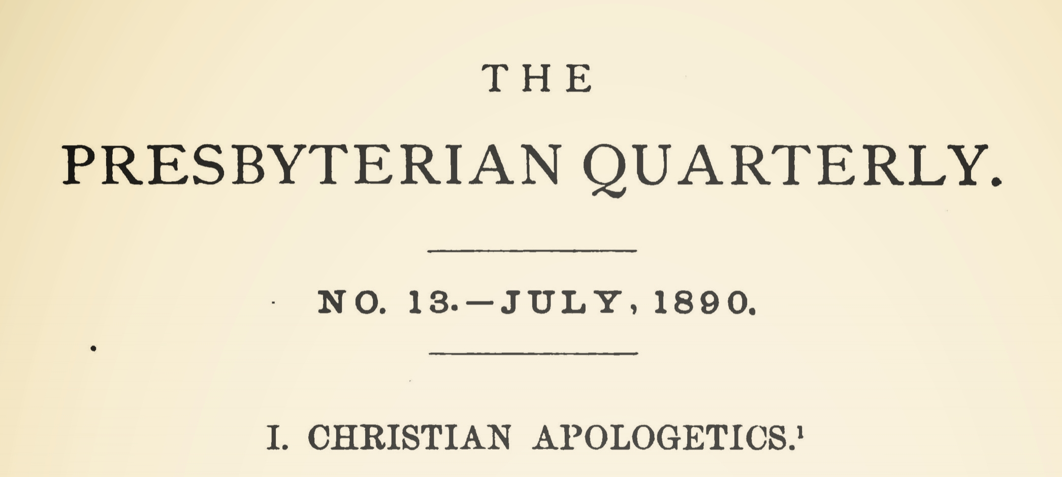 Beattie, Francis Robert, Christian Apologetics Inaugural Address Title Page.jpg