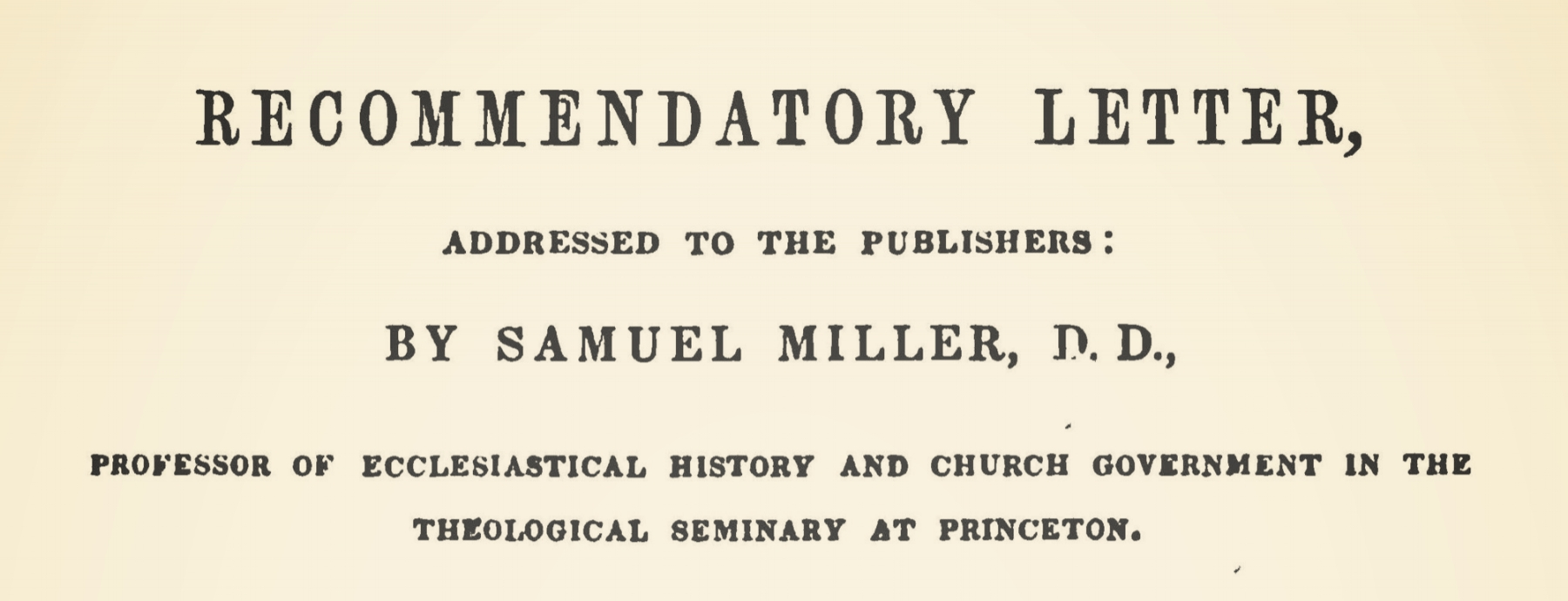 Miller, Samuel, Recommendatory Letter to Perrin's History Title Page.jpg