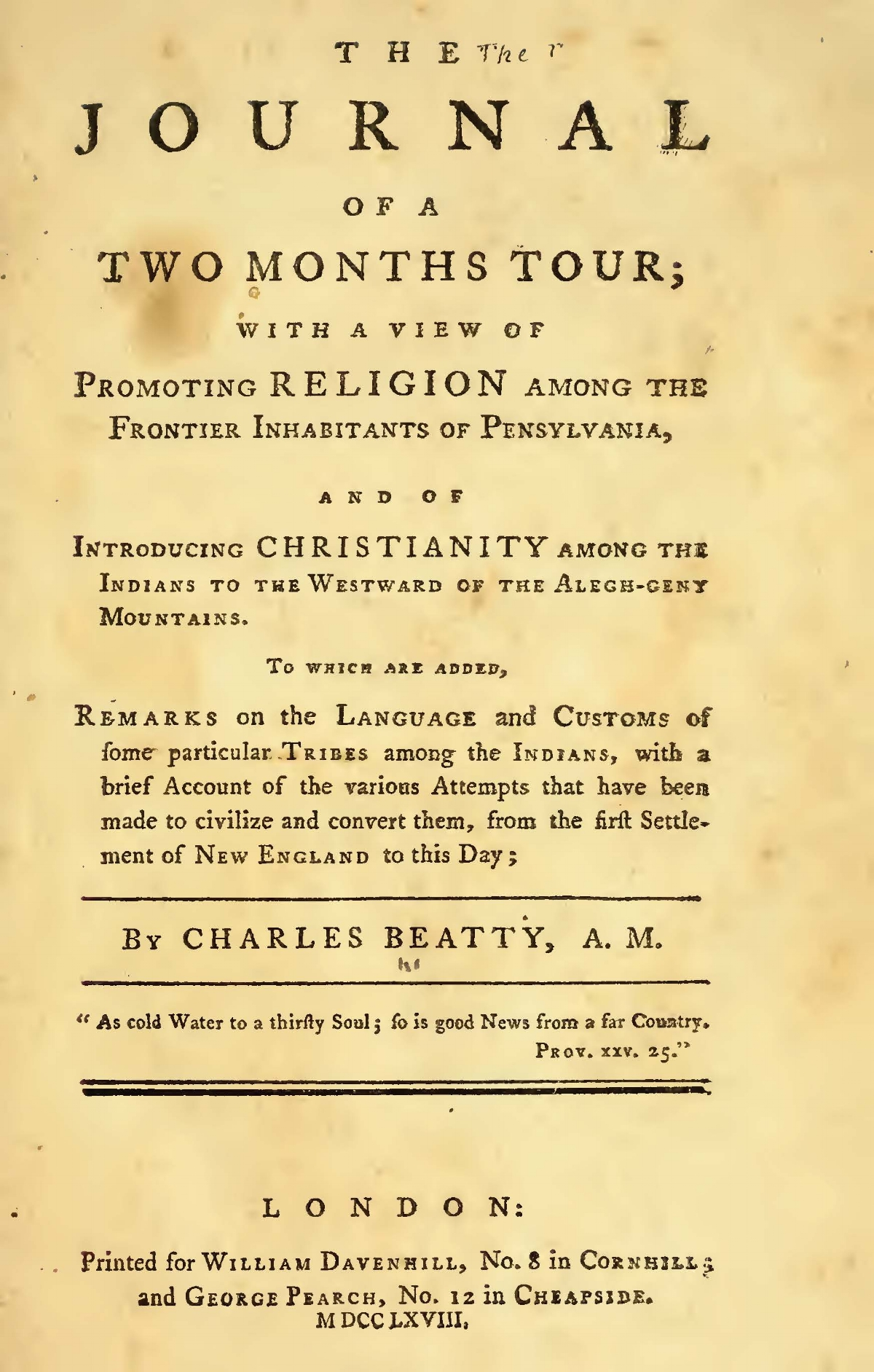 Beatty, Charles Clinton, The Journal of a Two Months Tour Title Page.jpg