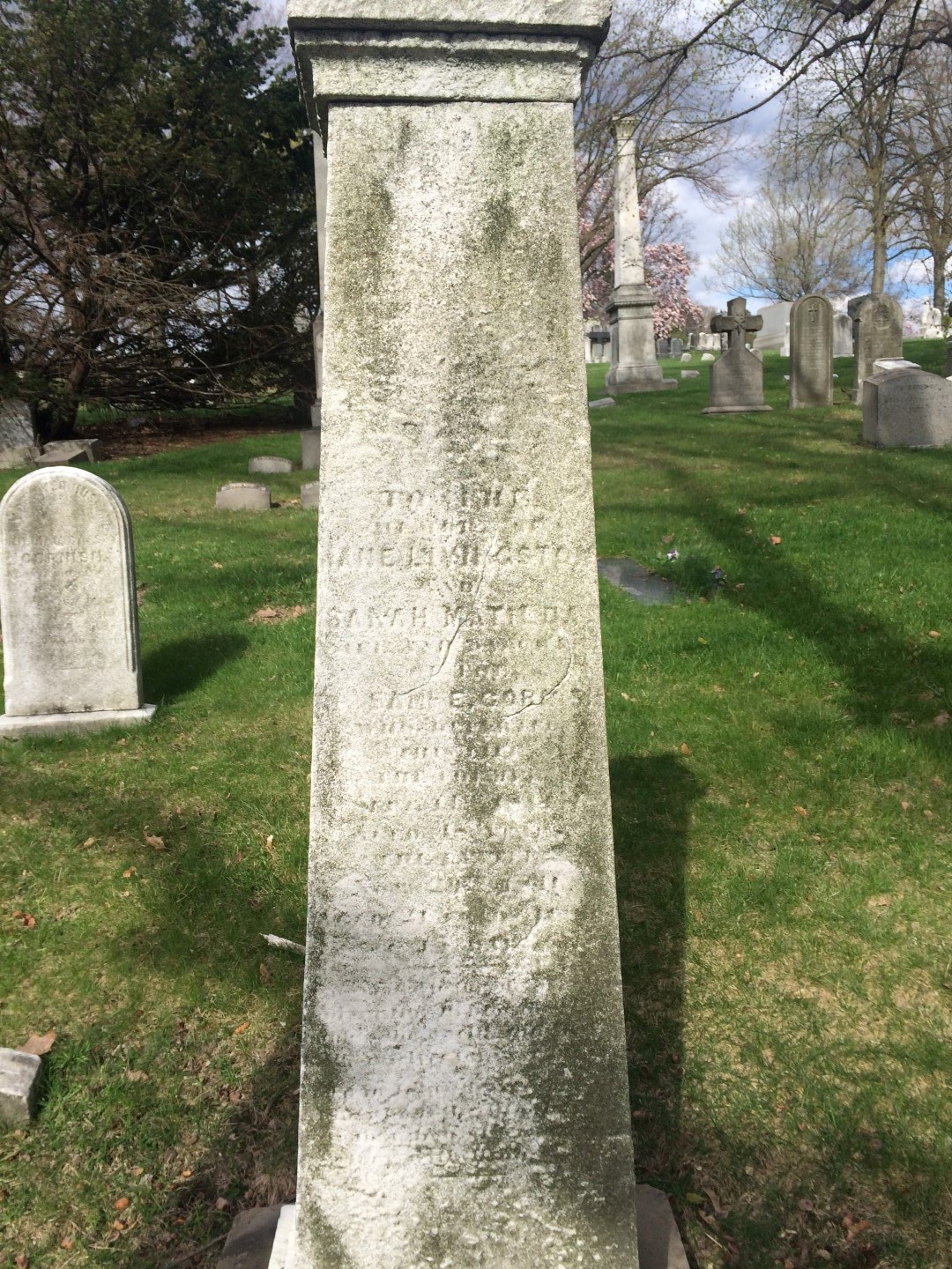 Samuel Eli Cornish is buried at Green-Wood Cemetery, Brooklyn, New York.