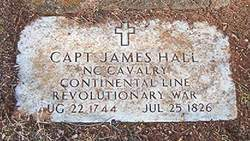 James Hall is buried at the Bethany Presbyterian Church Cemetery, Statesville, North Carolina.
