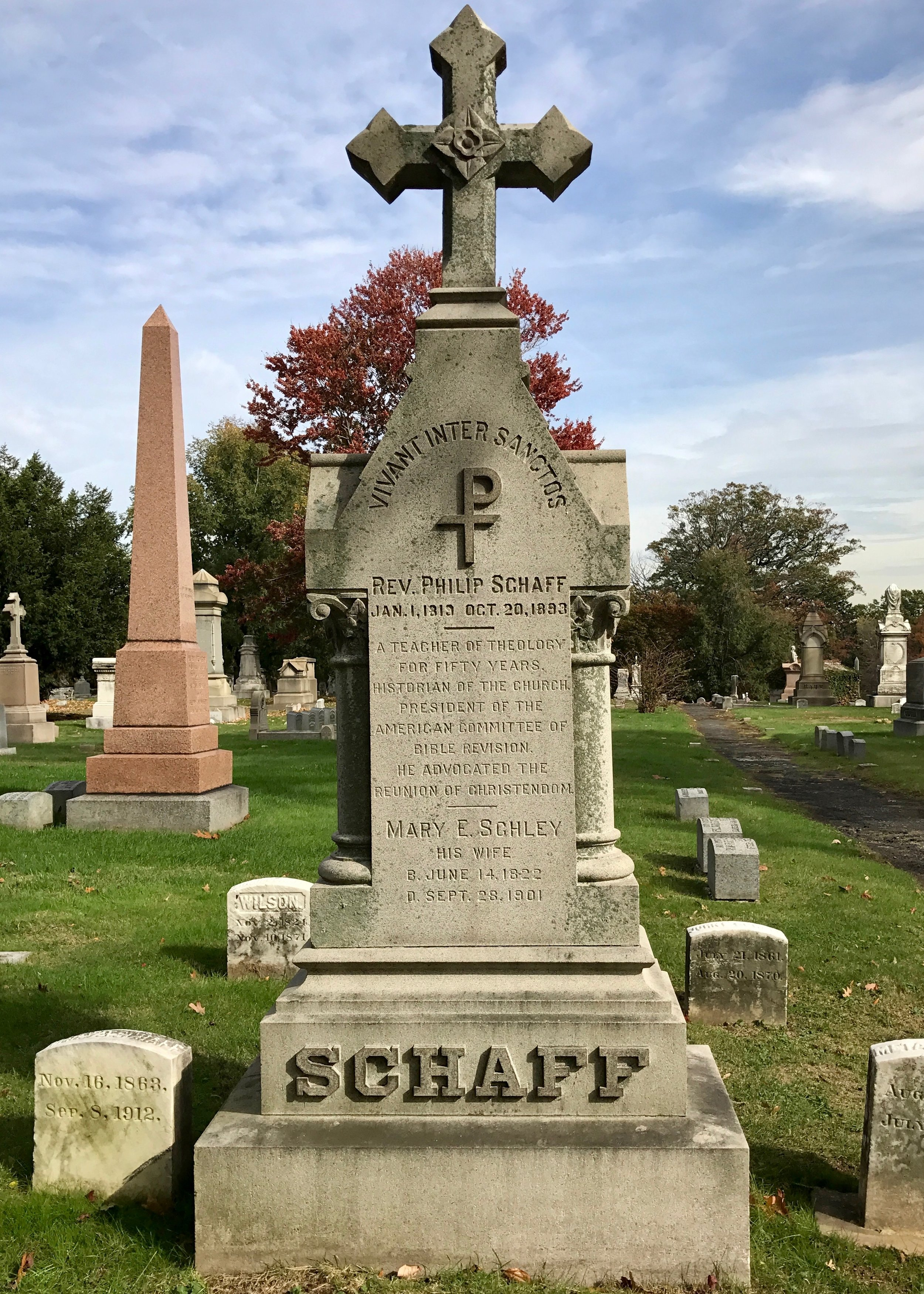 Philip Schaff is buried at Woodlawn Cemetery, Bronx, New York.