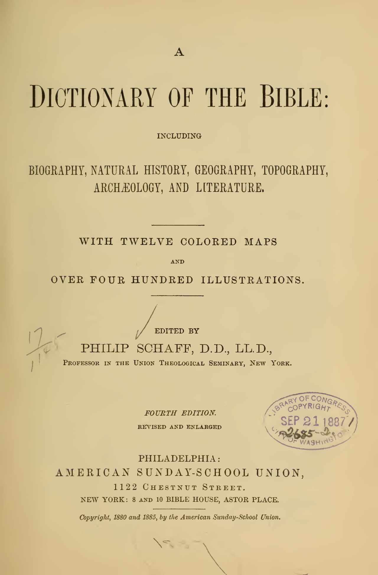 Schaff, Philip, A Dictionary of the Bible Title Page.jpg