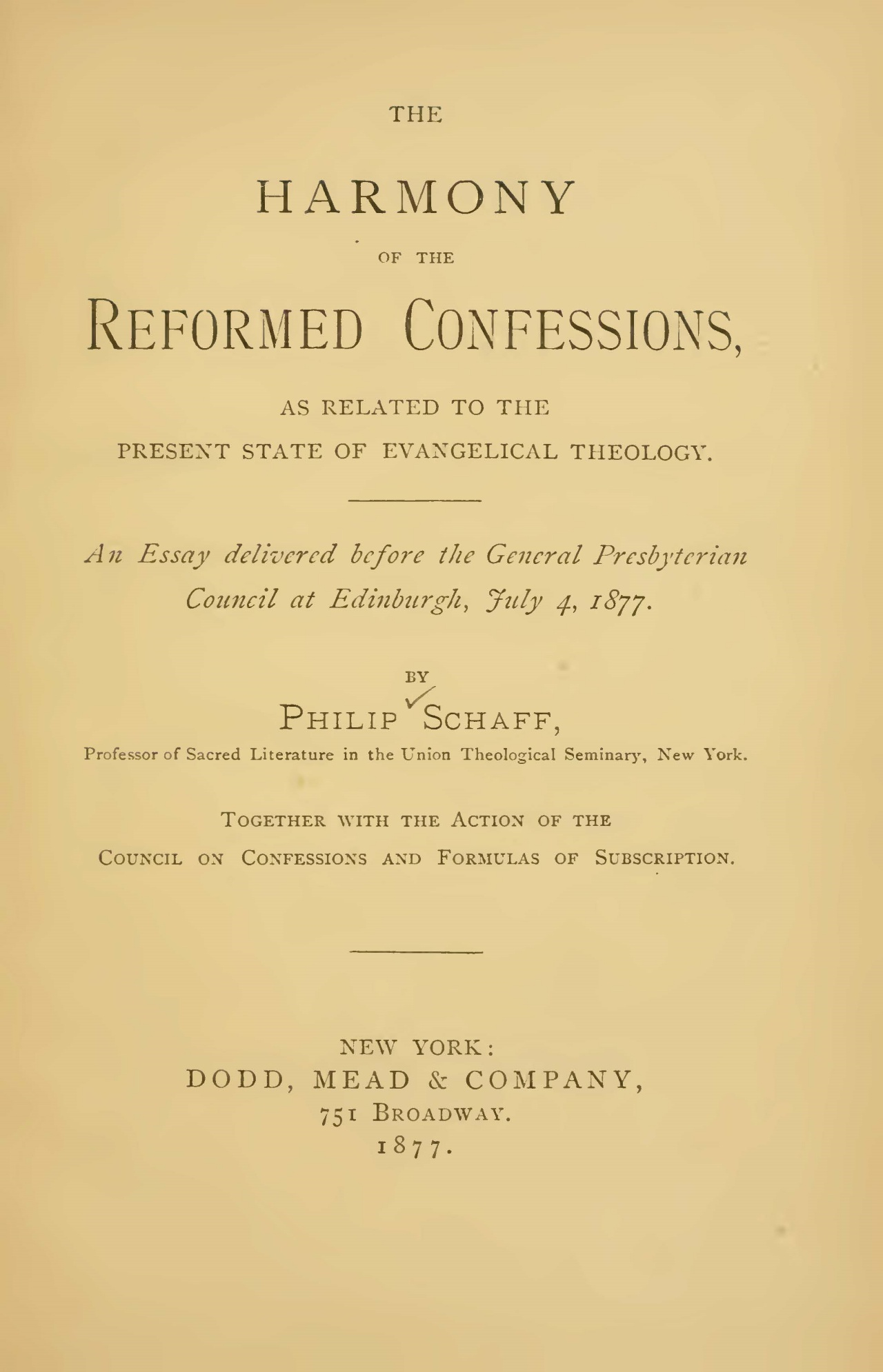 Schaff, Philip, The Harmony of the Reformed Confessions Title Page.jpg