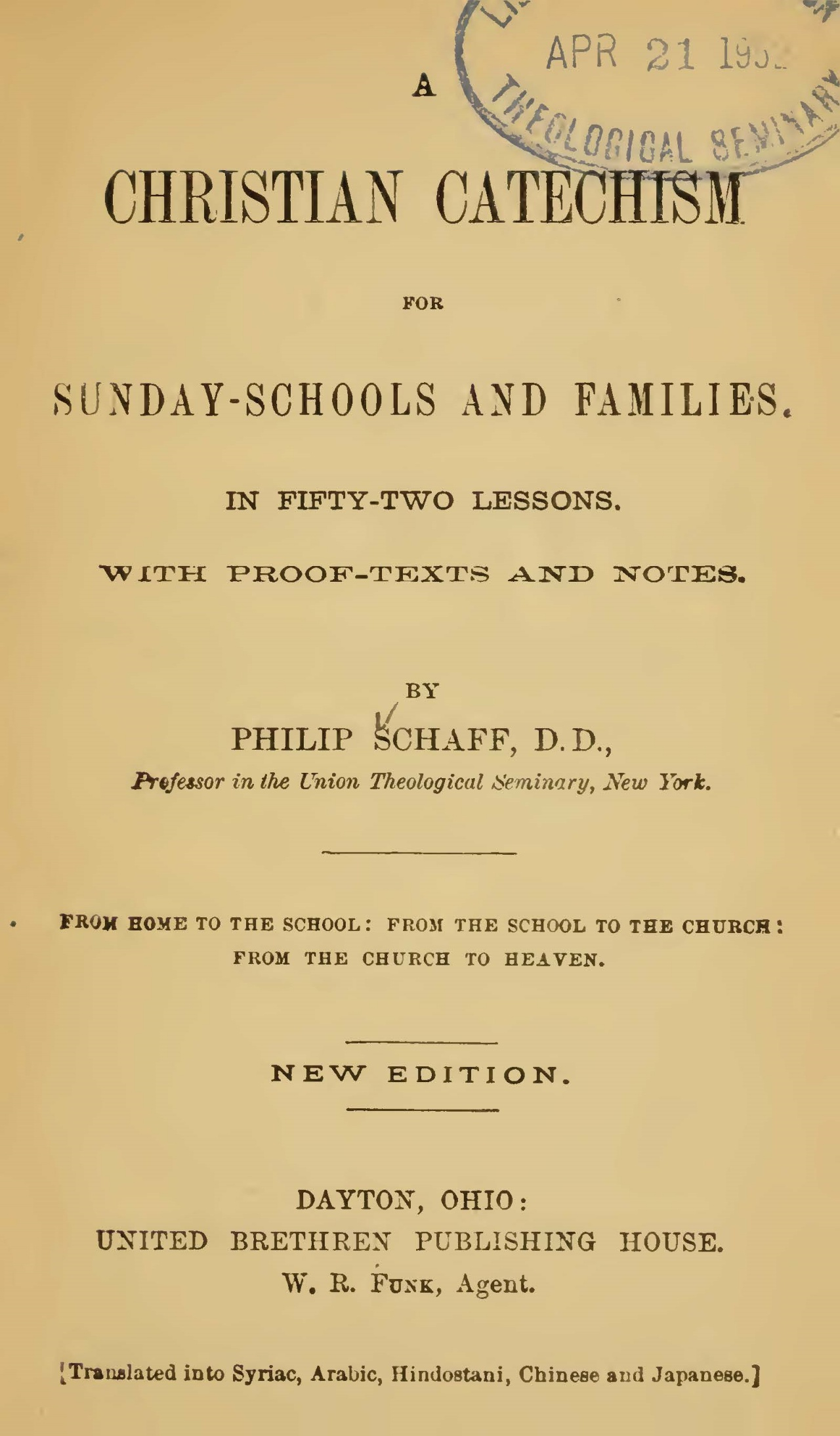 Schaff, Philip, A Christian Catechism Title Page.jpg