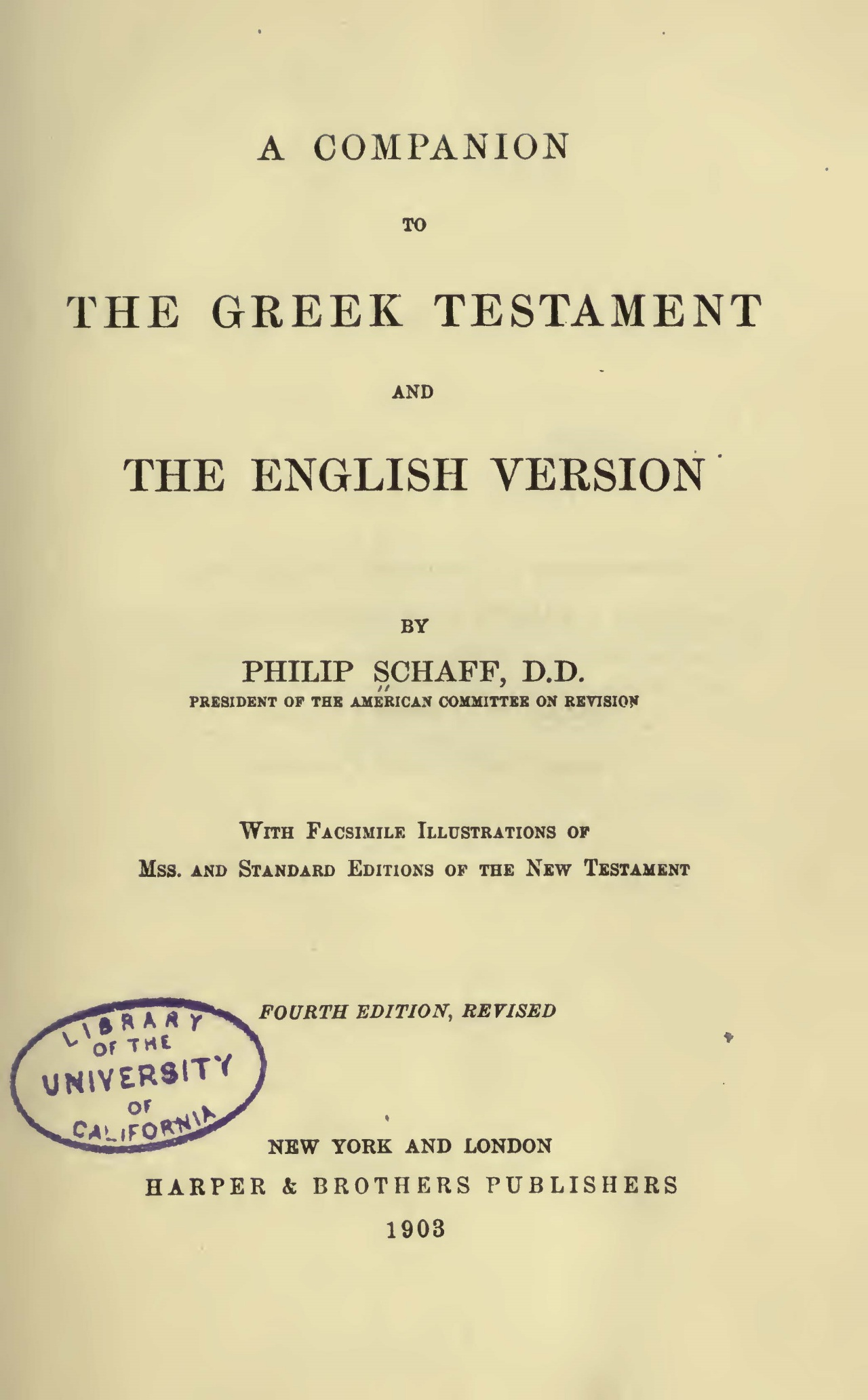 Schaff, Philip, A Companion to the Greek Testament and the English Version Title Page.jpg