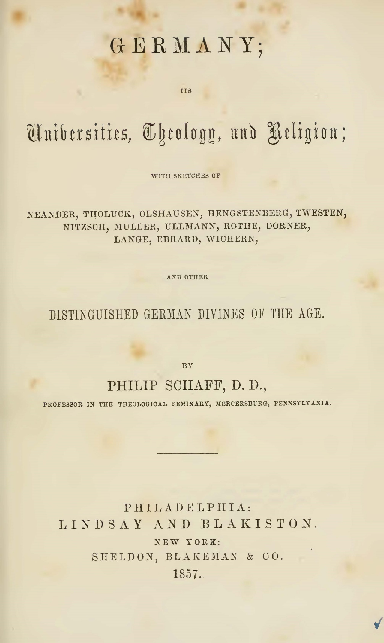 Schaff, Philip, Germany Title Page.jpg
