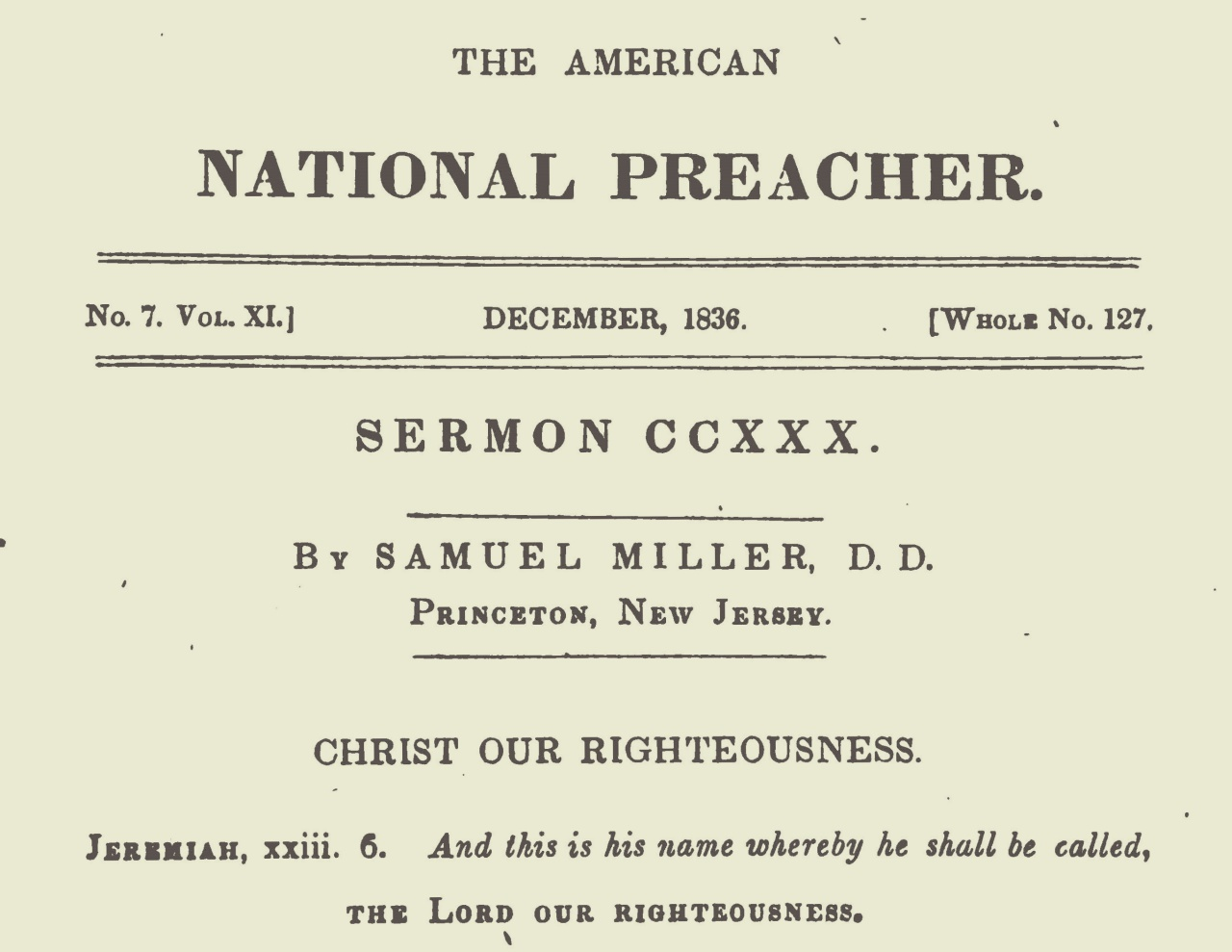 Miller, Samuel, Christ Our Righteousness Title Page.jpg