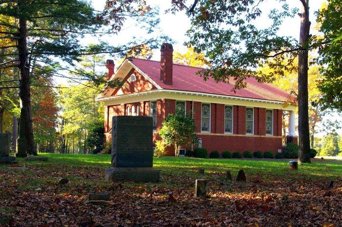 Hugh McAden is buried at Red House Presbyterian Church Cemetery, Semora, North Carolina.