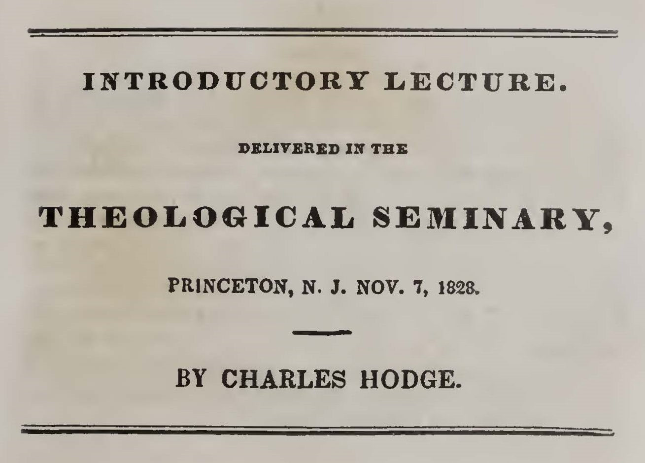 Hodge, Charles, Introductory Lecture Title Page.jpg
