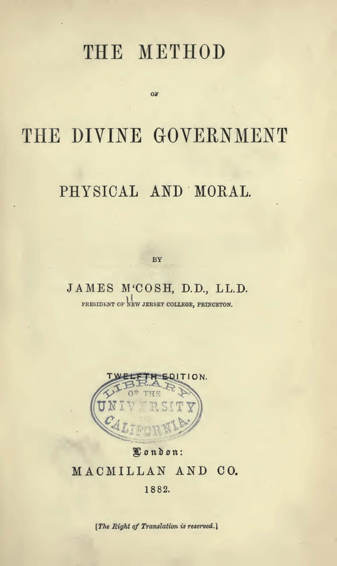 McCosh, James, The Method of Divine Government Title Page.jpg