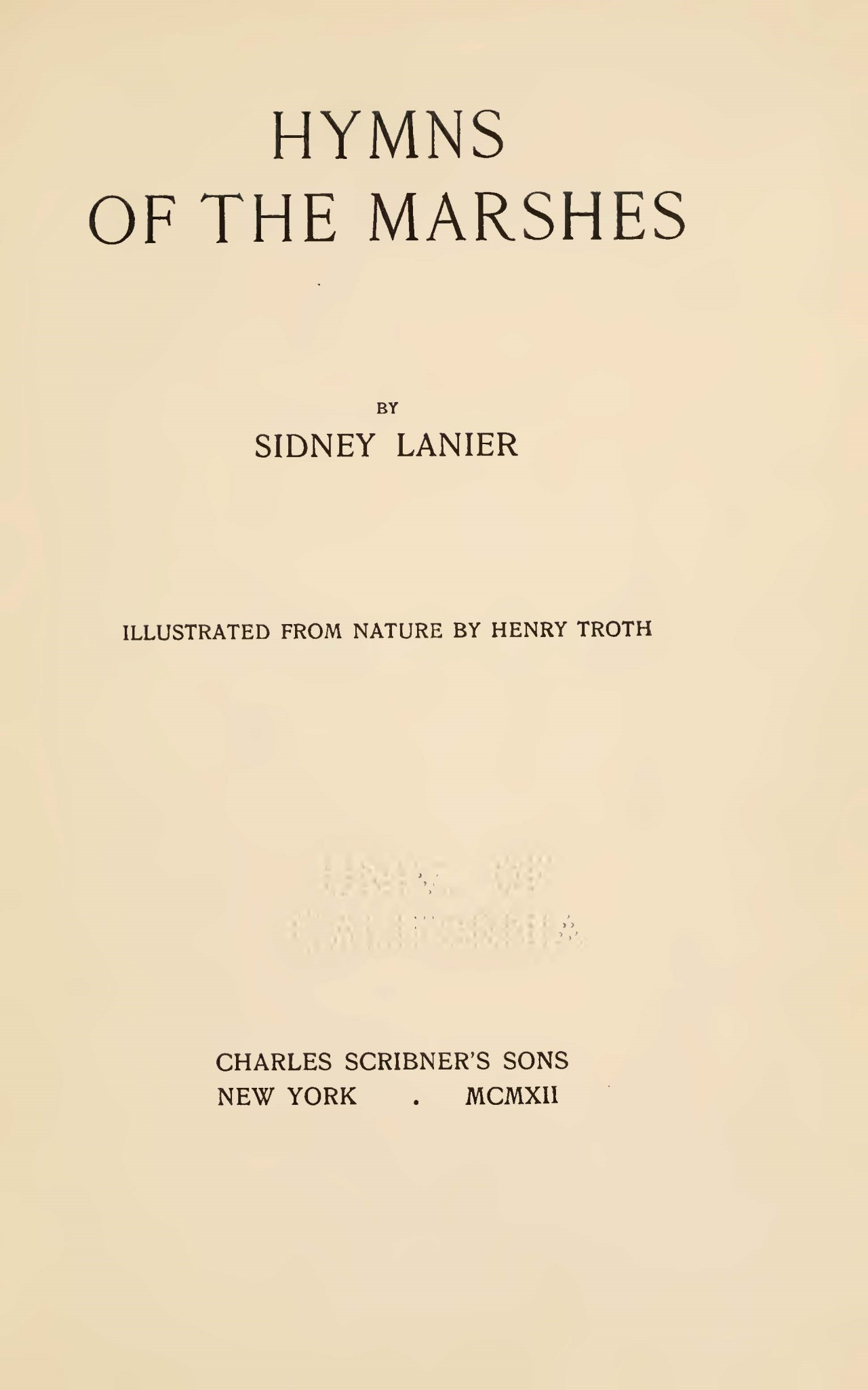 Lanier, Sr., Sidney Clopton, Hymns of the Marshes Title Page.jpg