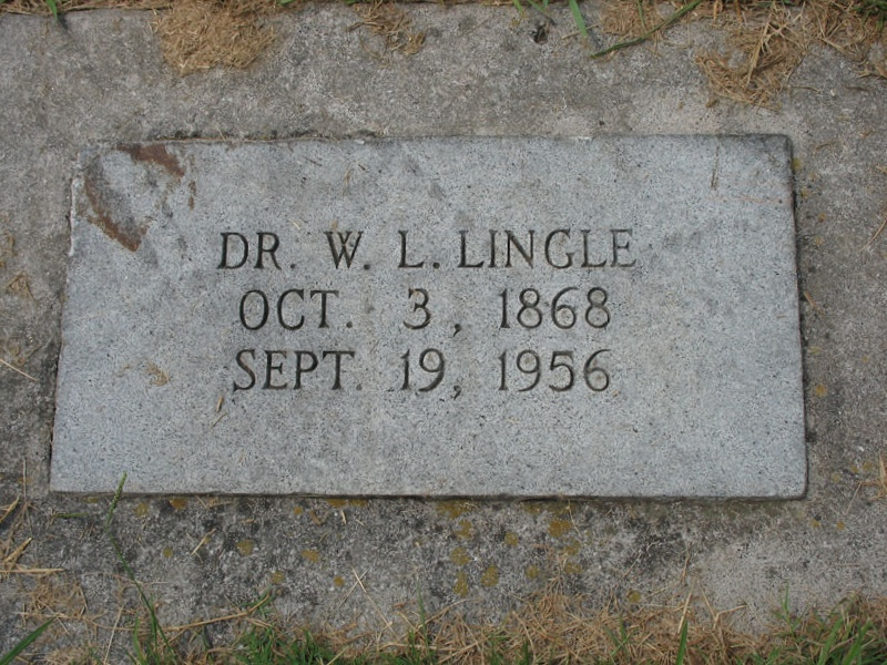 Walter Lee Lingle is buried at the Davidson College Cemetery, Davidson, North Carolina.