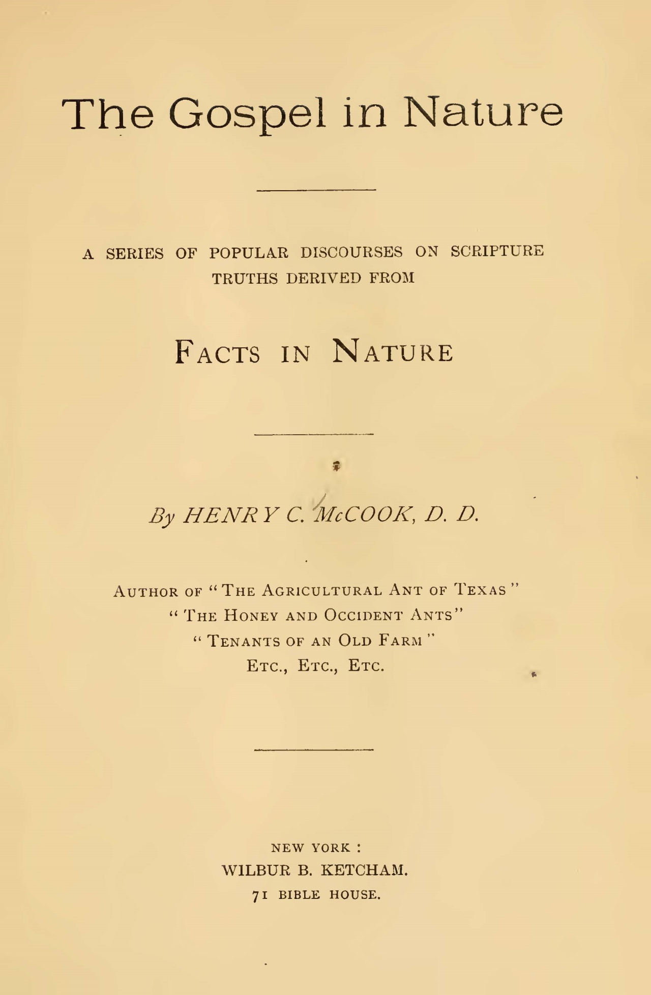 McCook, Henry Christopher, The Gospel in Nature Title Page.jpg