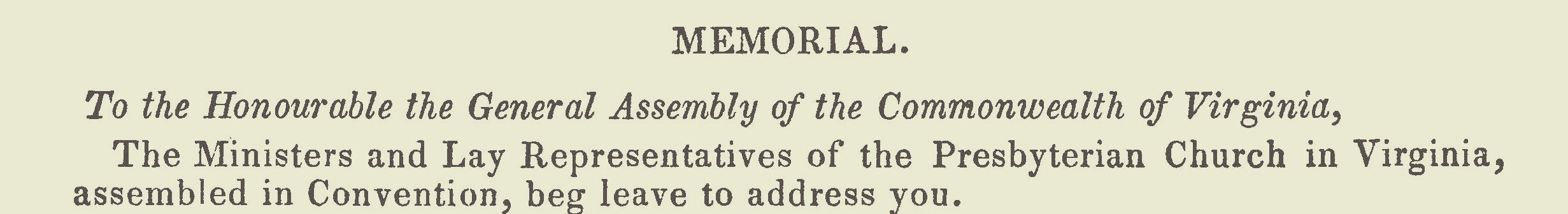 Graham, William, Address to the Presbyterian General Assembly Title Page.jpg