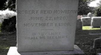 Robert Reid Howison is buried at Fredericksburg Cemetery, Fredericksburg, Virginia.
