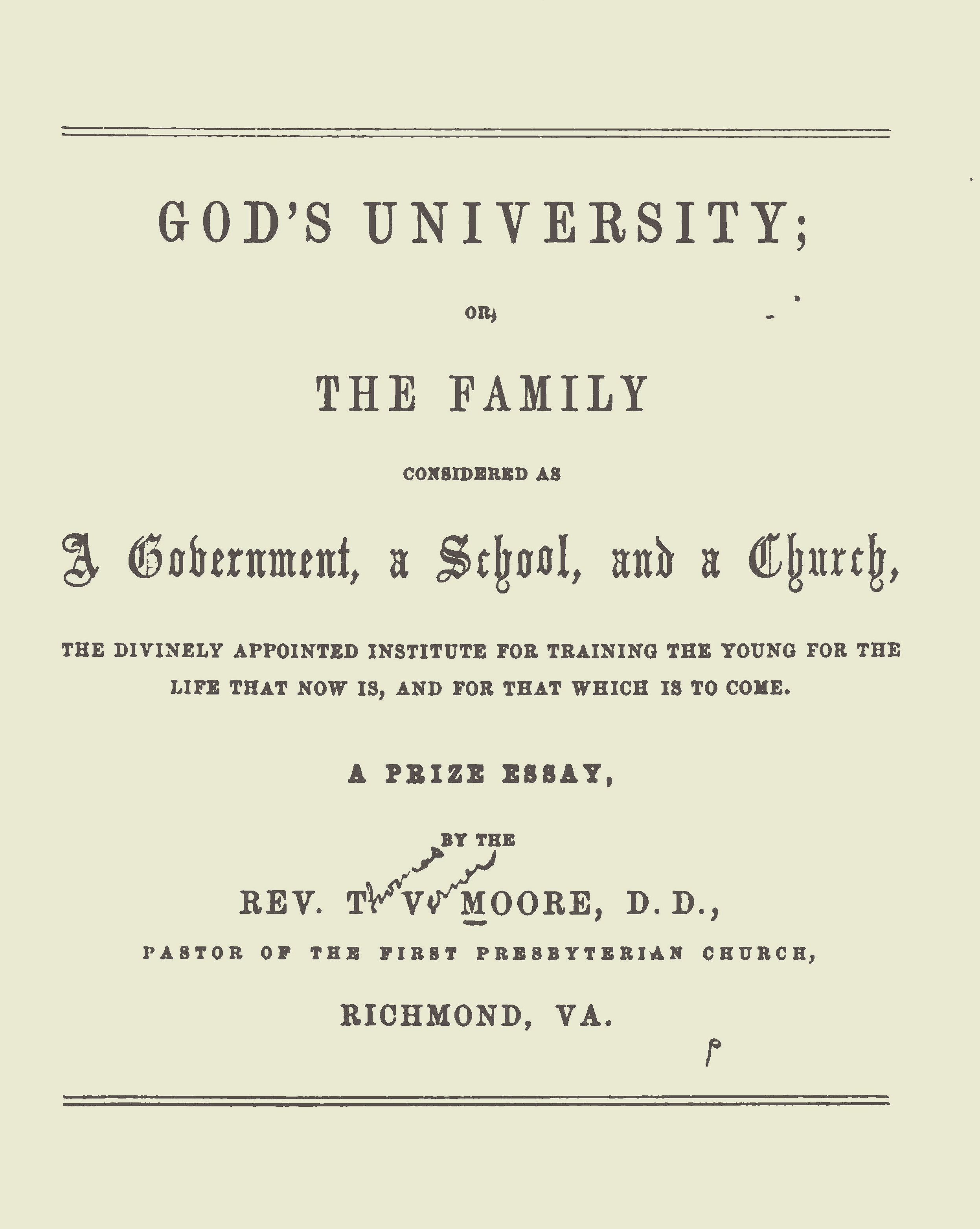 Moore's is the second of two prize essays contained in this PDF file.