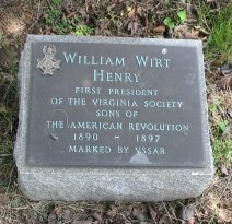 William Wirt Henry, Sr. is buried at Hollywood Cemetery, Richmond, Virginia.