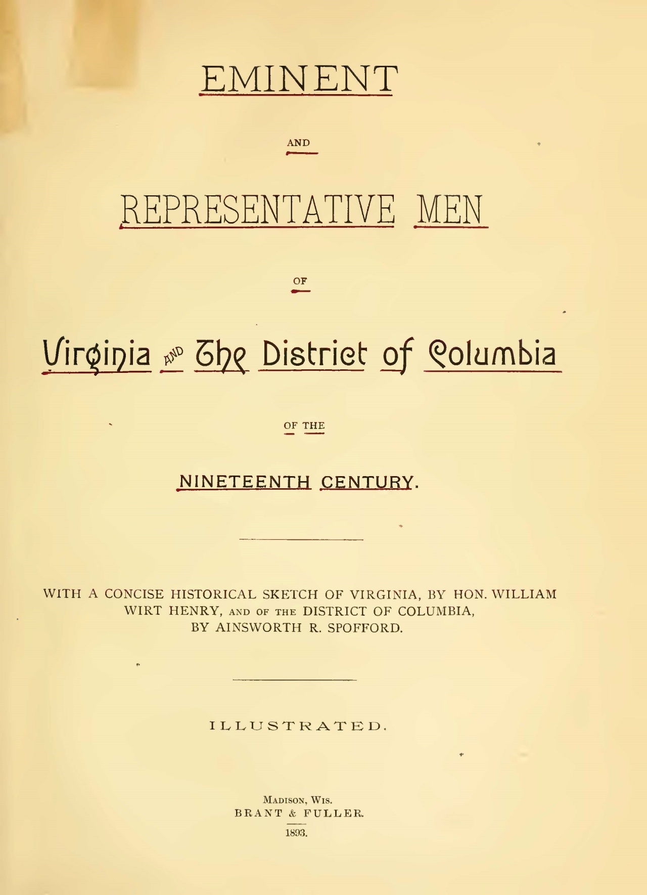 Henry, William Wirt, Eminent and Representative Men of Virginia and the District of Columbia Title Page.jpg