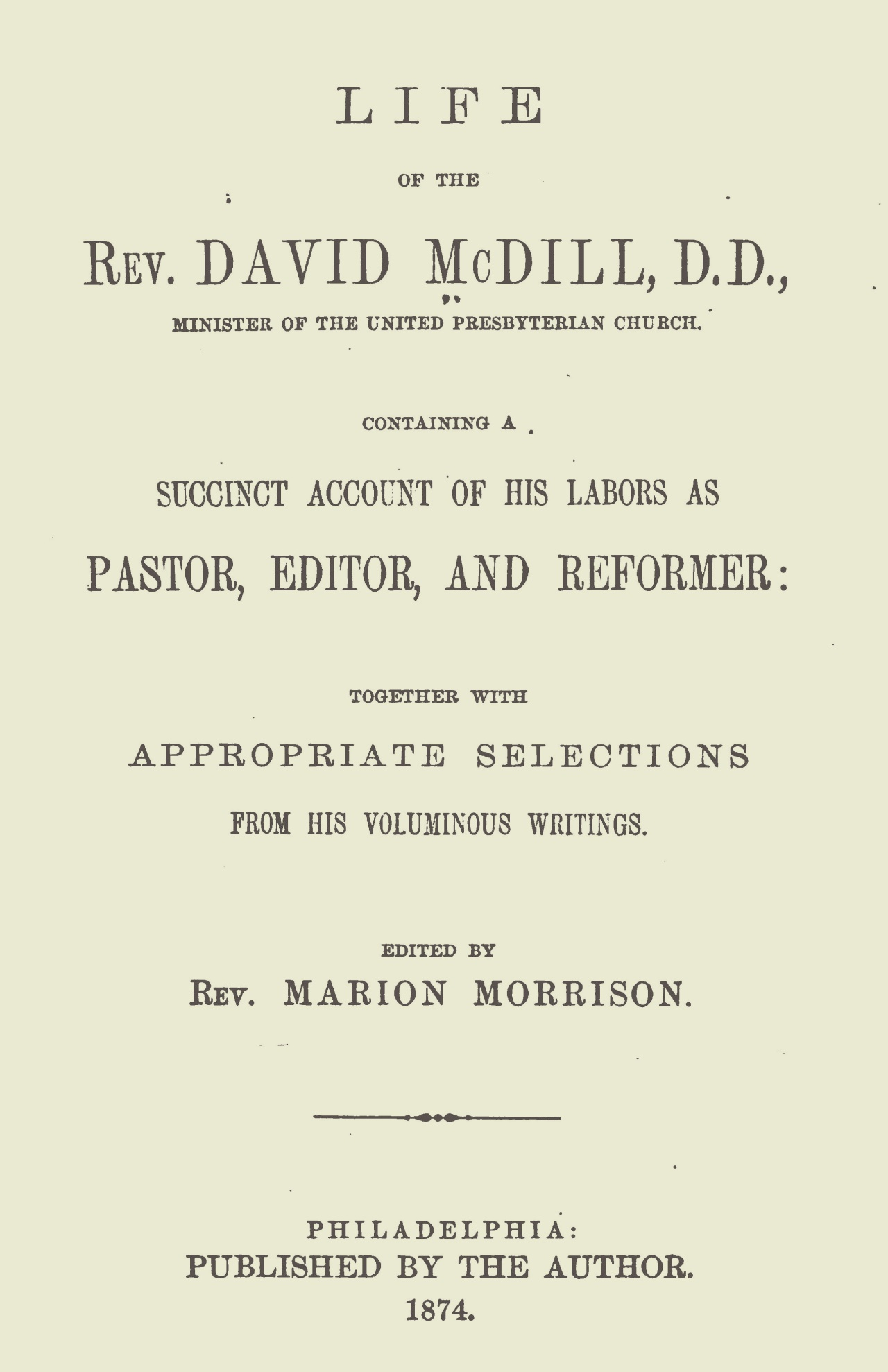 Morrison, Marion, Life of David McDill Title Page.jpg