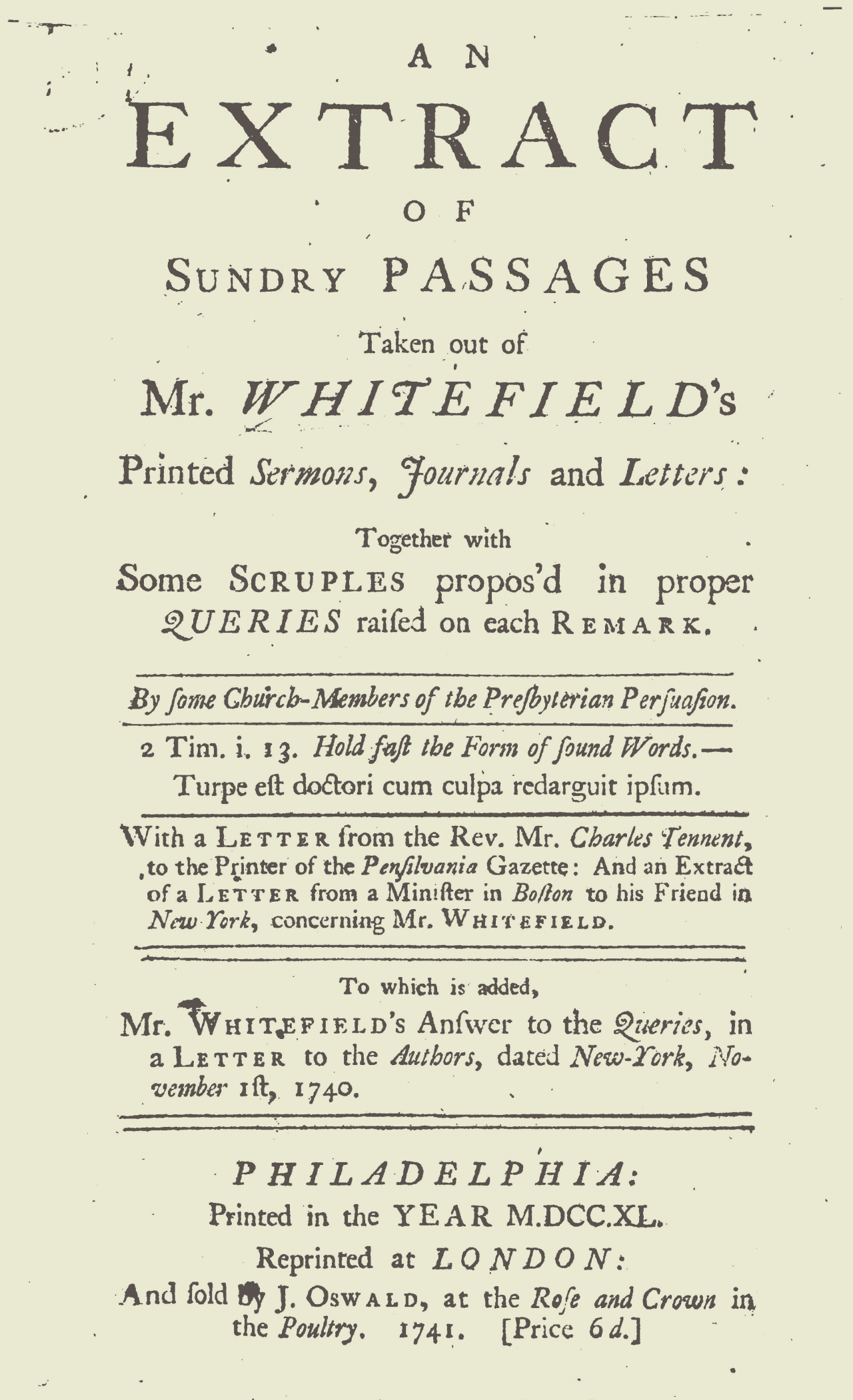 Alison, Francis, The Querists Title Page.jpg