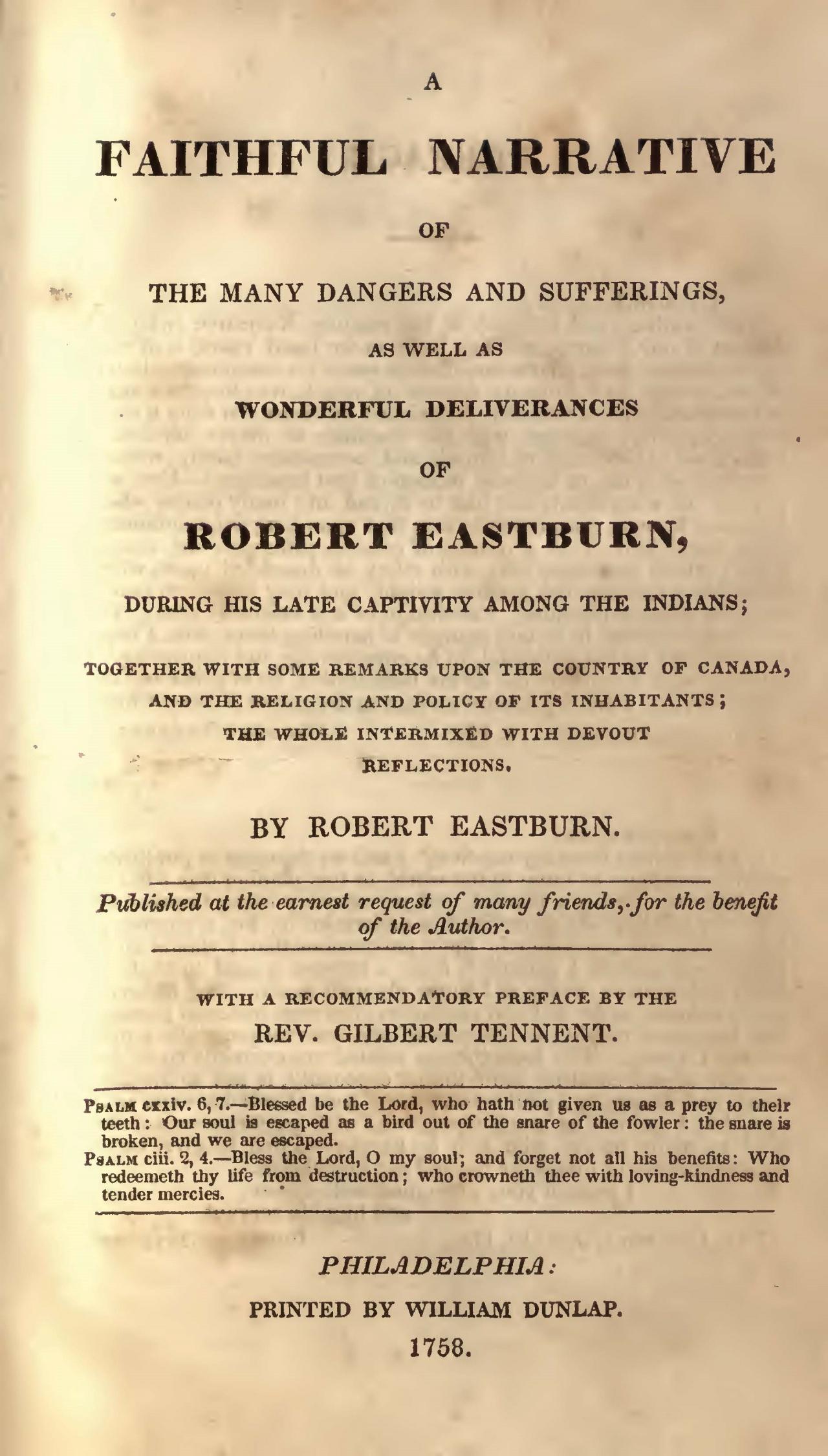 Eastburn, Robert, A Faithful Narrative Title Page.jpg
