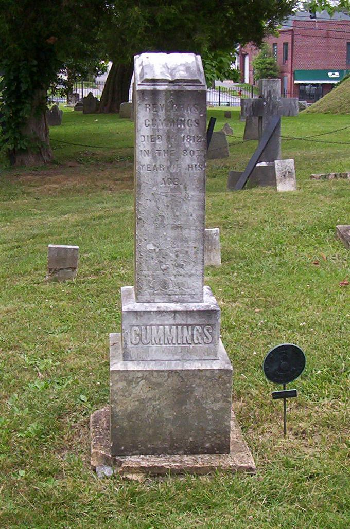 Charles Cummings is buried at the Sinking Spring Cemetery, Abingdon, Virginia.