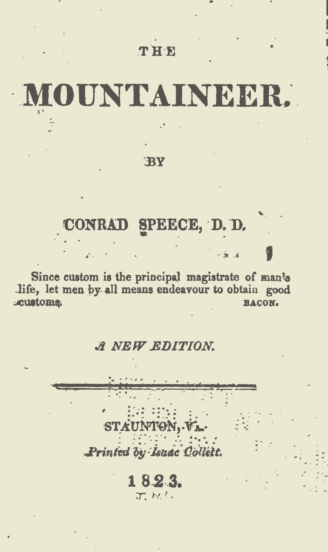 Speece, Conrad, The Mountaineer Title Page.jpg