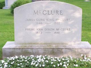 James Gore King McClure, Sr. is buried at Lake Forest Cemetery, Lake Forest, Illinois.